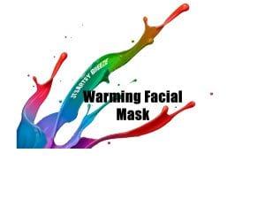 warming facial mask top label