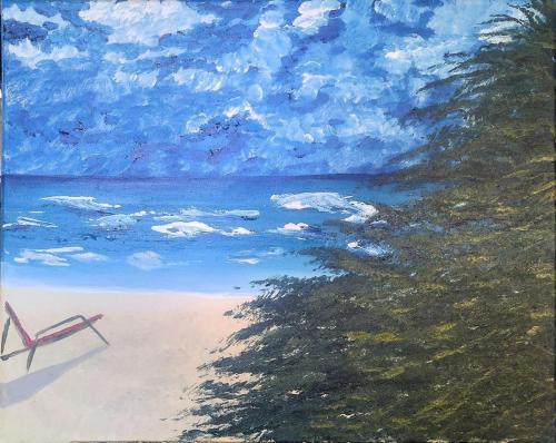 Summer days 16 x 20 acrylic on canvas 2020 alicia jt