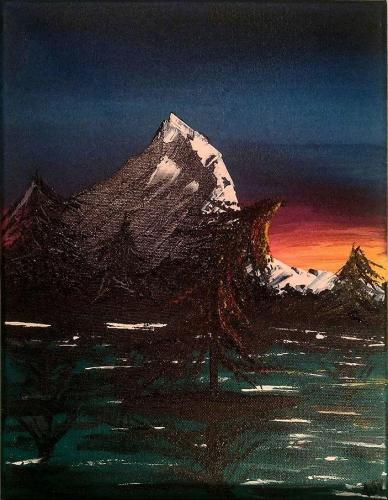 Suns will Always rise 11 x 14 Acrylic on Canvas 2020 full photo