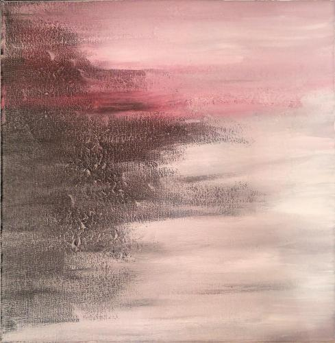blank spaces 12 x 12 acrylic on canvas 2020 Alicia JT full photo